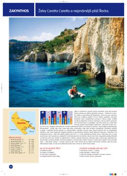 želvy caretta caretta a nejznámější pláž Řecka. ZAKYNThoS