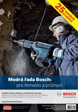 Modrá řada Bosch: pro řemeslo a průmysl
