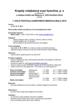 Festival barevného minivolejbalu 2015