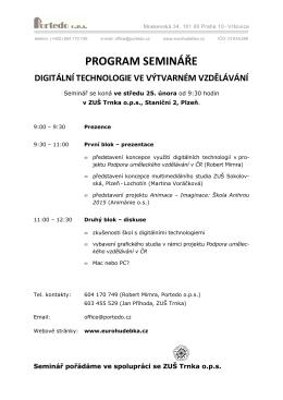 Seminář 25. 2. - informační portál pro ZUŠ