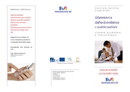 Účetnictví a daňová evidence - Mendelova střední škola, Nový Jičín