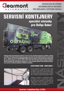 nástavby pro rallye - český leták