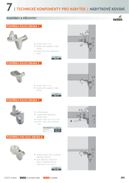 7| technické komponenty pro nábytek | nábytkové kování