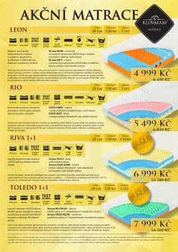 Akční leták - matrace