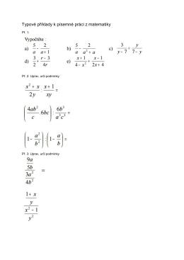 Typové příklady k 2. PP