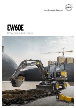 Volvo Brochure Compact Excavator EW60E Czech