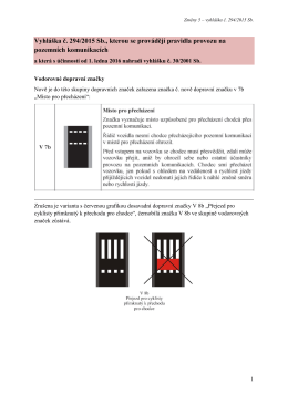Vyhláška č. 294/2015 Sb., kterou se provádějí pravidla provozu na