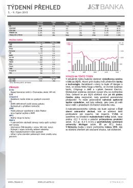 41. týden 2015 - ATLANTIK finanční trhy, a.s.