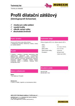 Profil dilatační zátěžový (Dehnfugenprofil Schwerlast)