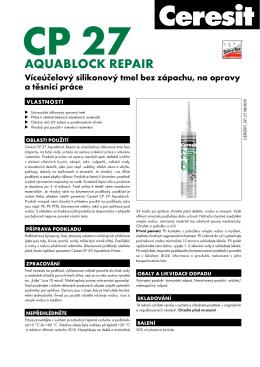 Technický list – Ceresit CP 27 Aquablock Repair