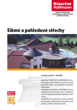Šikmé a pohledové střechy