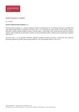 Vnitřní informace č. 13/2015