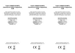 Vnitřní GSM/DCS/UMTS všesměrová anténa magnetická, 9 dB