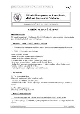 sm_5 Vnitřní platový předpis - Základní škola Vlachovo Březí