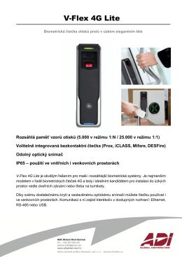 Katalogový list V-Flex 4G Lite_CZ Jazyk: Český Verze