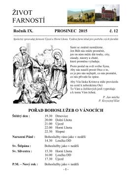Život farností: 12 / 2015 - Farnost Újezd u Valašských Klobouk