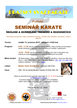 Příloha jednani - Pražský svaz karate