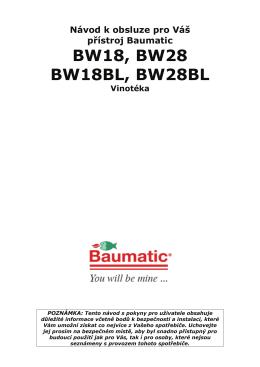 BW18, BW28 BW18BL, BW28BL