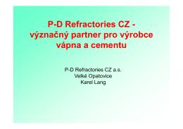 P-D Refractories CZ – význačný partner pro výrobce vápna a cementu