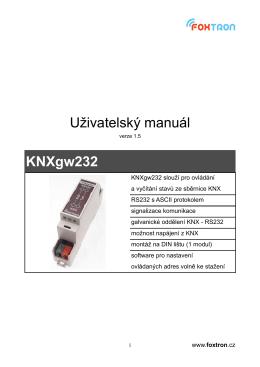 Uživatelský manuál KNXgw232