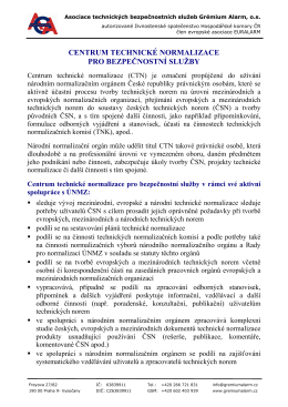 Centrum technické normalizace pro bezpečnostní služby