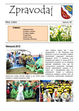 Zpravodaj 1-2015 - Městys Rokytnice nad Rokytnou