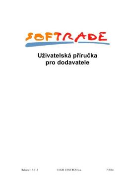Uživatelská příručka pro dodavatele