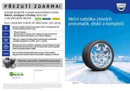 Akční nabídka zimních pneumatik, disků a kompletů