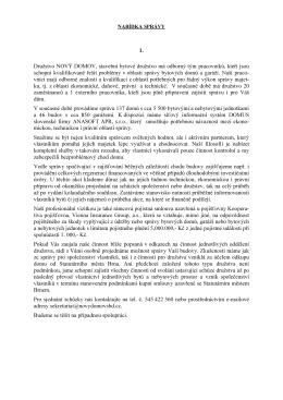 Komplexní nabídka na správu - NOVÝ DOMOV, stavební bytové