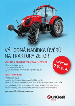 Výhodná nabídka úVěrů na traktory Zetor