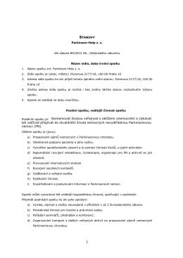 Stanovy PH z. s. od 10.9.2015