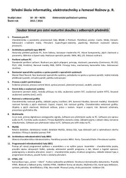 Střední škola informatiky, elektrotechniky a řemesel Rožnov p. R.