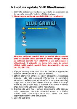 Návod na update VHP BlueGames: