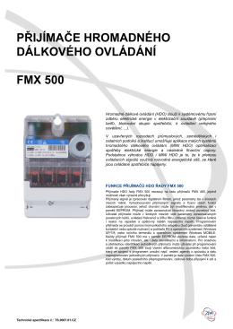 Technická specifikace FMX500