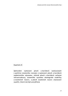 Kapitola D Zpřesnění vymezení ploch a koridorů vymezených v