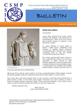listopad - prosinec 2015 - Česká společnost pro mezinárodní právo