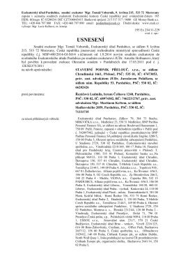 195 Ex 234/11 - Exekutorský úřad Pardubice