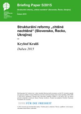 Strukturální reformy - Asociace pro mezinárodní otázky
