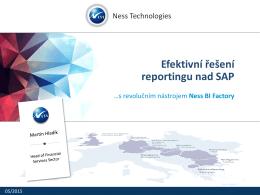 Efektivní řešení reportingu nad SAP