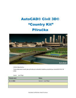 "AutoCAD® Civil 3D® ""Country Kit"" Příručka"