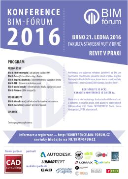 BIM-Fórum 2016 Pozvánka