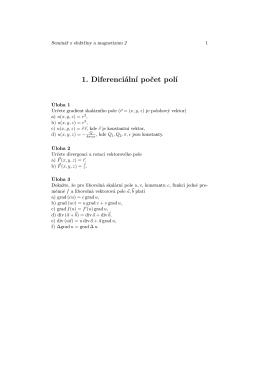 1. Diferenciální počet polí