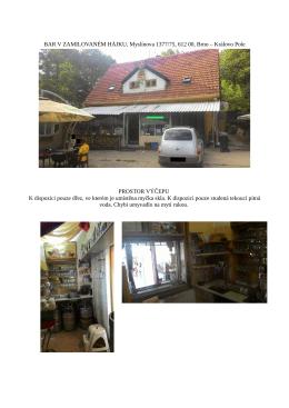 BAR V ZAMILOVANÉM HÁJKU, Myslínova 1377/75, 612 00, Brno