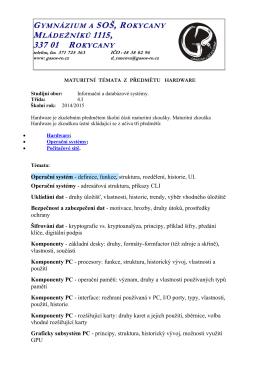 Maturitní témata - Hardware ()