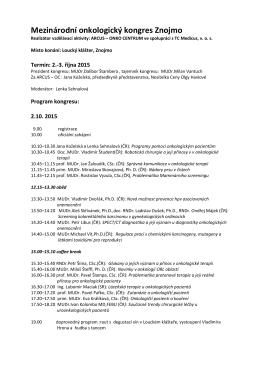 Program MOK Znojmo 2.10.