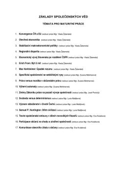 Základy společenských věd 2012