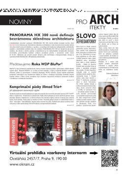 Stáhnout - Noviny pro architekty