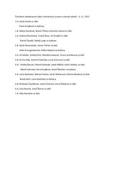 vyhlášení sběru a kaštanů v l.čtvrtletí 2015