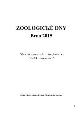 ZOOLOGICKÉ DNY Brno 2015 Sborník abstraktů z konference 12.