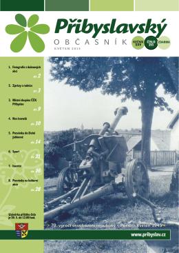 Přibyslavský občasník květen 2015